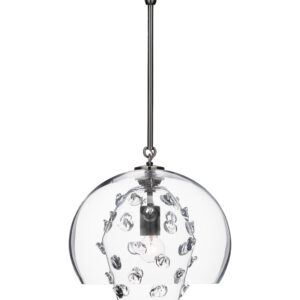 Florence Grande Double Shade Pendant in Nickel