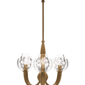 Florence Double Shade on Paris Chandelier - Brass