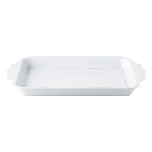 "Berry & Thread Melamine 24"" Handled Tray"