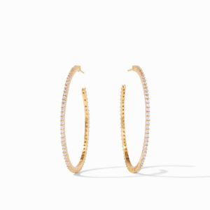 Julie Vos Large Paris Hoop - Zircon