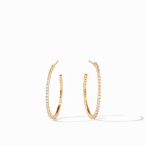 Julie Vos Medium Paris Hoops Earrings - Zircon