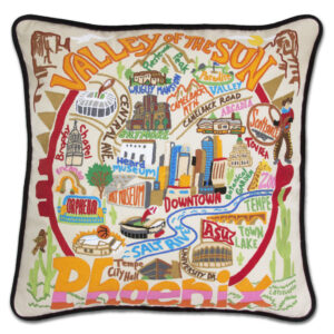 Phoenix Embroidered Pillow