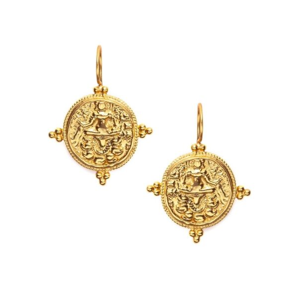 Julie Vos Quatro Coin Earrings