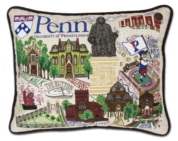University of Pennsylvania Embroidered Pillow