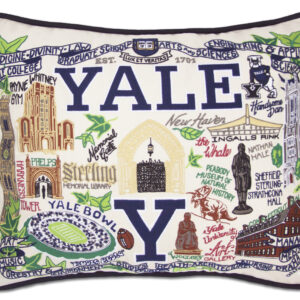 Yale University Embroidered Pillow