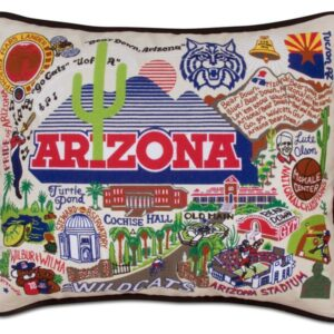 University of Arizona Embroidered Pillow